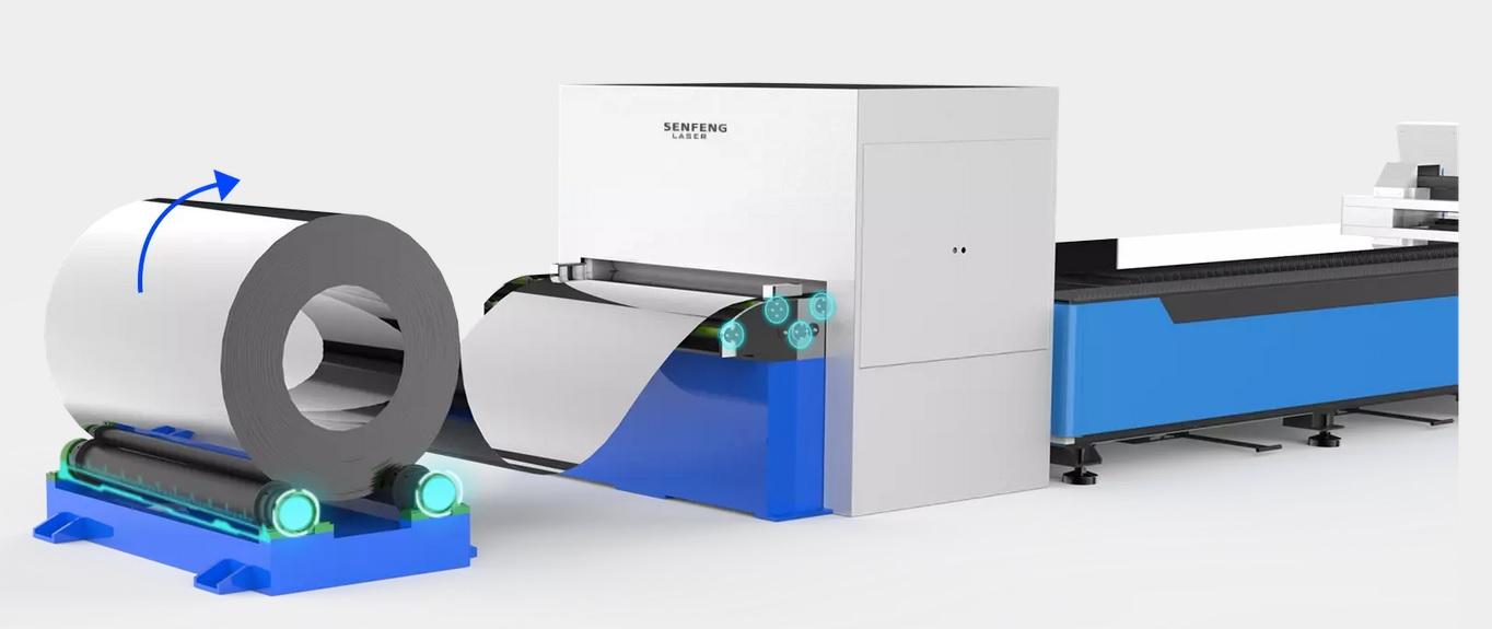 Coiled Fiber Laser cutting machine 4