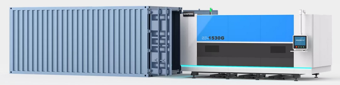Fibre laser fit into a 20-foot container