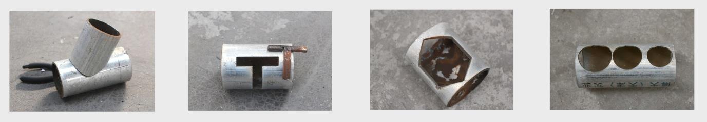 CNC putken palsmaleikkaus esimerkkejä